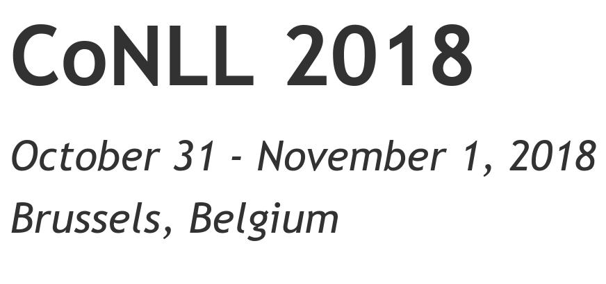 CoNLL2018